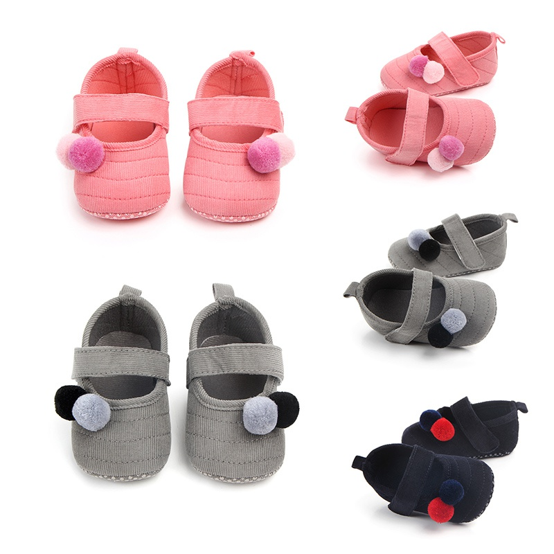 Baby Shoes New Born Prewalker Toddler Girls Princess Plush 0-18M Soft for Cute