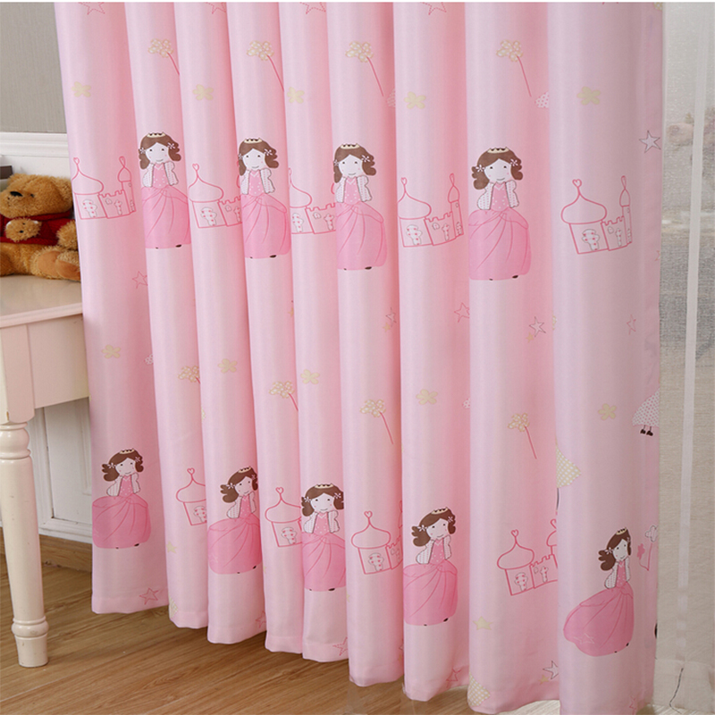 pink princess blackout curtains for children room baby girl living room bedroom cortina para quarto home decor window curtainin curtains from home u0026 garden