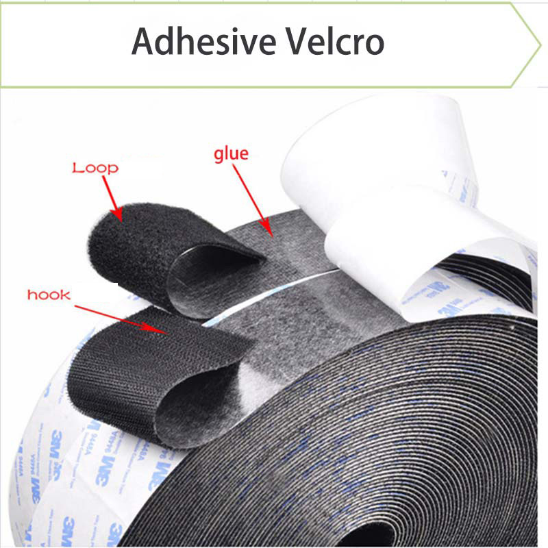 Negro De Velcro ® gancho y bucle coser en la cinta de 50mm de ancho por 10 metros de largo nuevo Y En Caja
