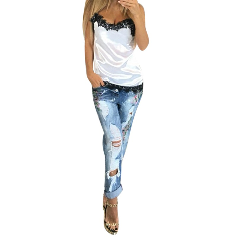 Fashion sexy Women solid camis Summer Casual lace patchwork Vest Top Sleeveless Tank Tops T-Shirt