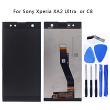 "AAA original 6.0 ""Para Sony Xperia XA2 Super Kit Display LCD Digitador para Sony Xperia C8 H4233 H4213 H3213 display LCD Ferramenta de Peças"