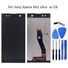 """AAA orijinal 6.0 """"Sony Xperia Sony Xperia için XA2 Süper lcd ekran Digitizer Kiti C8 H4233 H4213 H3213 Ekran LCD Parçaları Aracı"""
