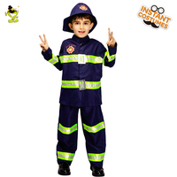 QLQ Child Fireman Costume Performance New Design Boy Fireman Clothes Cosplay Halloween Fireman Costumes