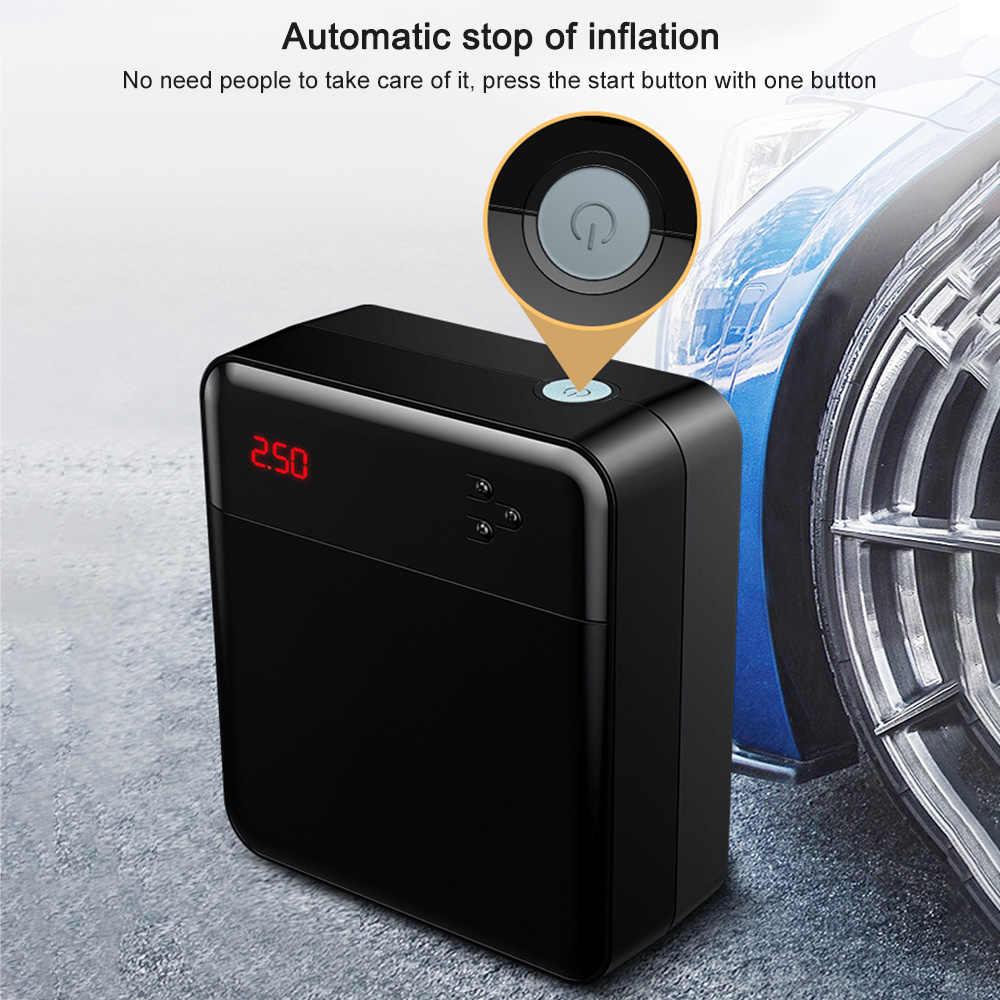 ضاغط الهواء DC 12 V مضخة قابلة للنقل منفاخ لإطارات السيارة مع الصمام شاشة ديجيتال يصل إلى 150PSI ل سيارة دراجة SUV قارب