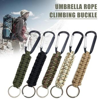 Safety Survival Gear Tactical Military Strand Cord Parachute Rope Keyring Carabiner Kits Lanyard Keychain Outdoor Tools Random 2