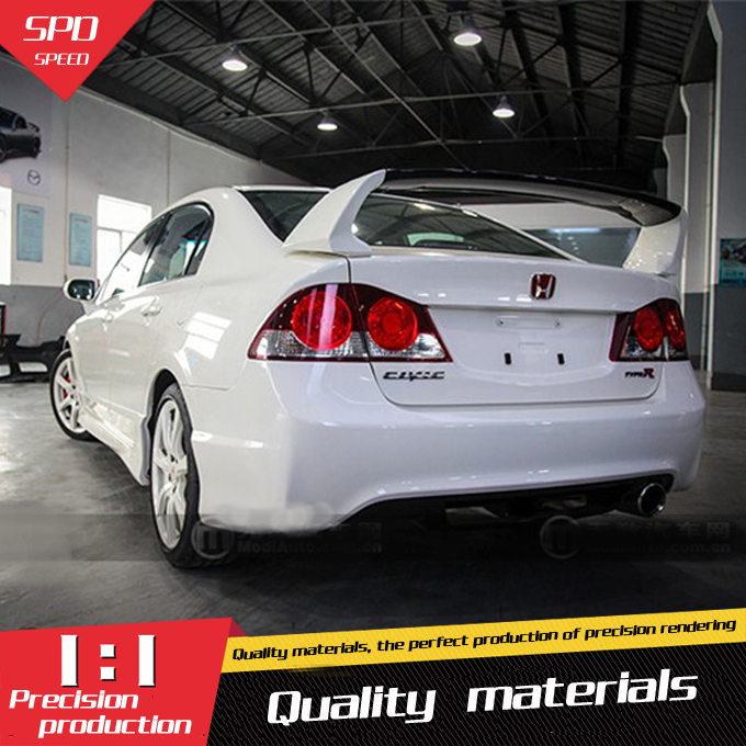 For Honda Civic Spoiler High Quality ABS Material Car Rear Wing Primer Color Rear Spoiler For