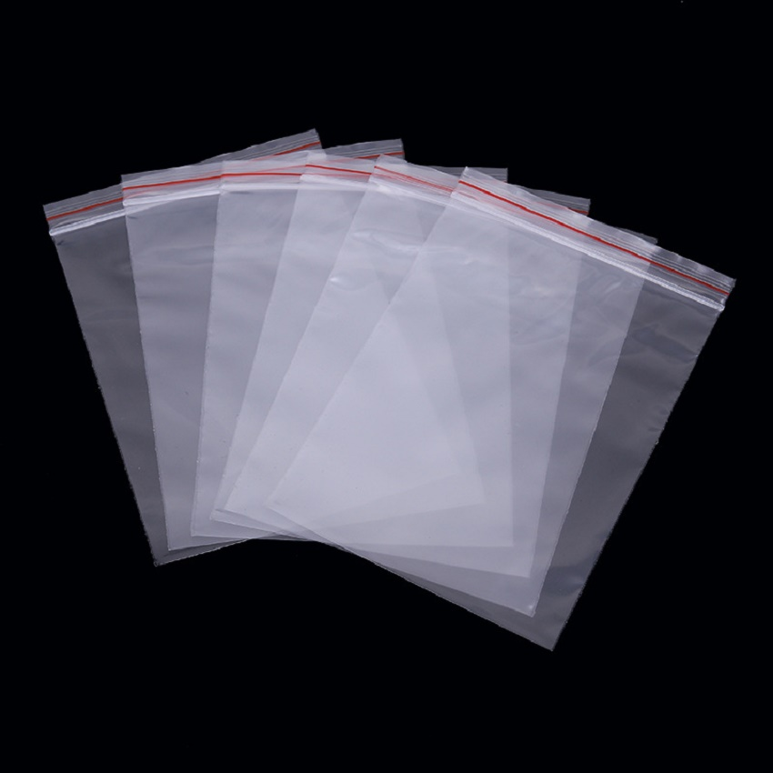 100pcs transparent white ziplock bag food packaging zipper sealed retail