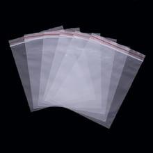 100pcs transparent white ziplock bag food packaging zipper sealed retail