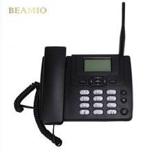 GSM sim-карты настольного Беспроводной домашний телефон стационарный телефон настенное крепление с FM радио фиксированной радиотелефонной Проводной Домашний телефон черный