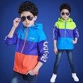 Новое Прибытие 2017 Весна Марка Мода детская куртка Дети Верхней Одежды Мальчиков Пальто ветровка для мальчика