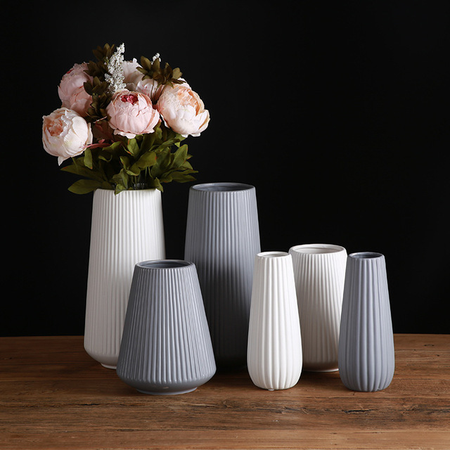 Classic Mediterranean Ceramic Vase Nordic Modern Simple Ceramic Vase Home Flower Inserter Creative Decoration 4