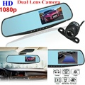 FHD 1080P Dual Lens Car DVR Camera Mirror Video Recorder Night vision Dash Cam Parking Monitor Auto Camera Anti Mirror DVRs