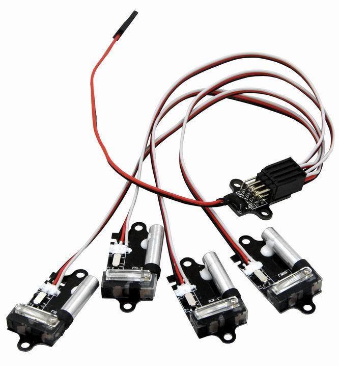 1pc Super High Brightness Xenon Burst Light Auto Strobe Flash 2 modes for Fpv Multicopter strobe light 4 Xenon lights