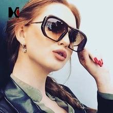 SHAUNA Oversized Square Sunglasses Women Gradient Shades For Ladies Fashion Eyeglasses Clear Lens Frame for Men UV400