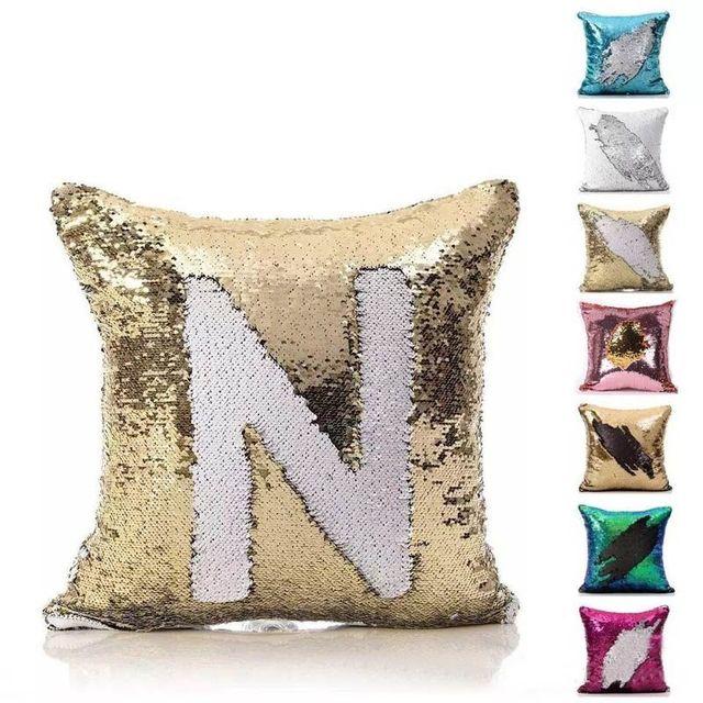 Reversible Pillow Case Mermaid Sequin Pillow Cover DIY Decorative Cool Diy Decorative Pillow Covers