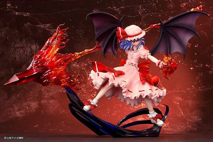 Touhou projeto Remilia Scarlet lança - Gungnir Koakuma diabo 25 CM PVC boneca figura de ação brinquedos
