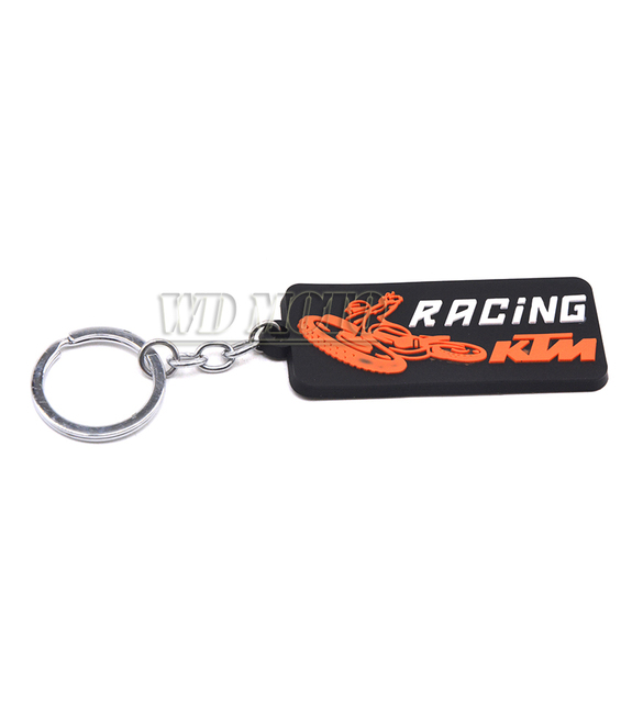 new 3d rubber ktm ready to race motorcycle keyring ktm keychain pvc
