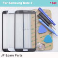 Black White Grey Outer Glass Replacement for Samsung Galaxy Note 2 N7100 N7105 N7102 Touch Screen Lens+ Sticker + Tools Kit