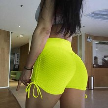New 2019 Women Shorts Summer Elastic High Waist Side Edge Shorts Push Up Active Wear Athleisure  Femme Shorts Solid Color XS-XL women s active style elastic waist patchwork sport shorts