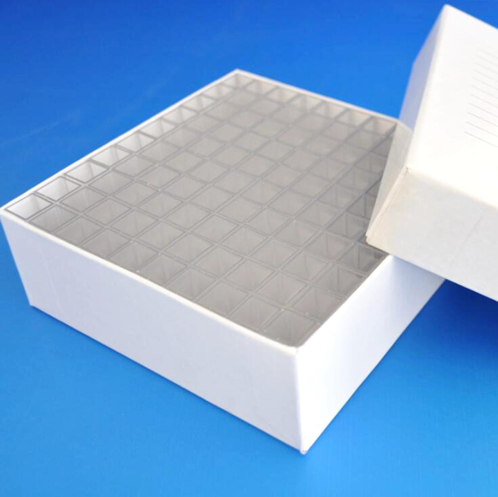Box Of 100pcs 1.5ml Semimicro Square Plastic Test Tubes Vials  Container Craft Cuvette Lab Kit Tools