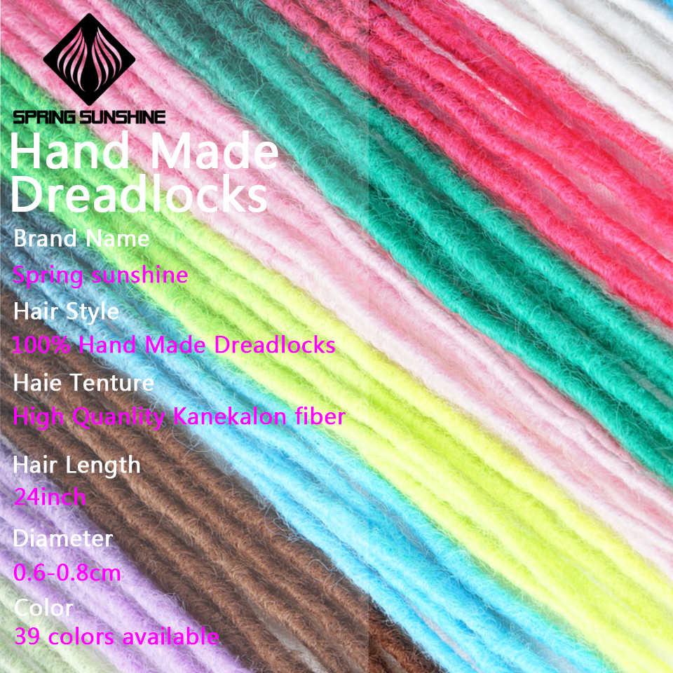 Синтетические дреды 24 дюймов ручной работы дреды для наращивания регги крючком хип-хоп дредс крючком плетение волос