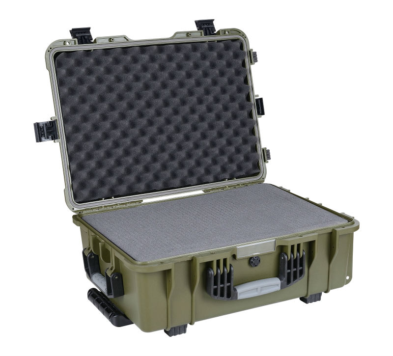 Hot style 538*380*210mm hard Plastic Heavy duty military Case watertight shockproof