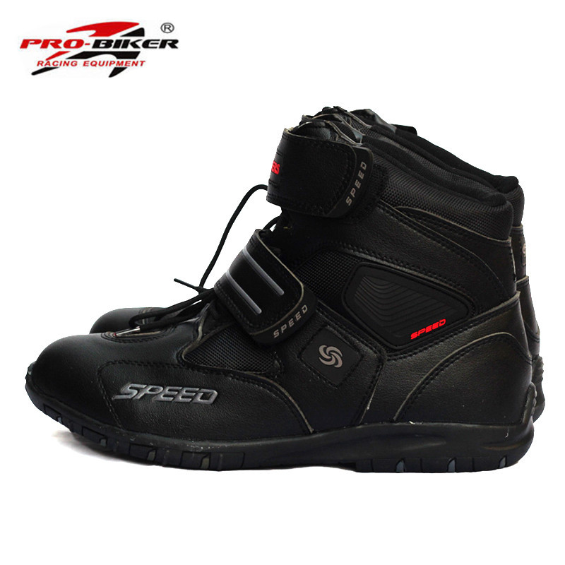 цена на Pro-Biker SPEED Motorcycle Boots Shoes Motocross Botas Moto Motoqueiro Motocicleta A0052 Botte Botas Para Moto Men