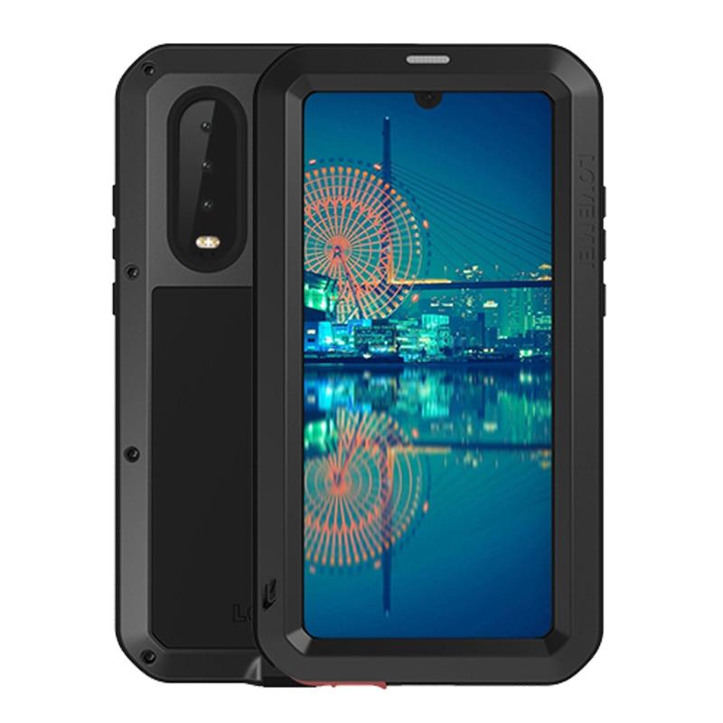 Voor Huawei P30 Lite Gorilla Glas Film Waterdichte Heavy Duty Beschermhoes voor Huawei P30 Pro Shockproof Metal Armor Cover-in Passende hoesjes van Mobiele telefoons & telecommunicatie op AliExpress - 11.11_Dubbel 11Vrijgezellendag 1