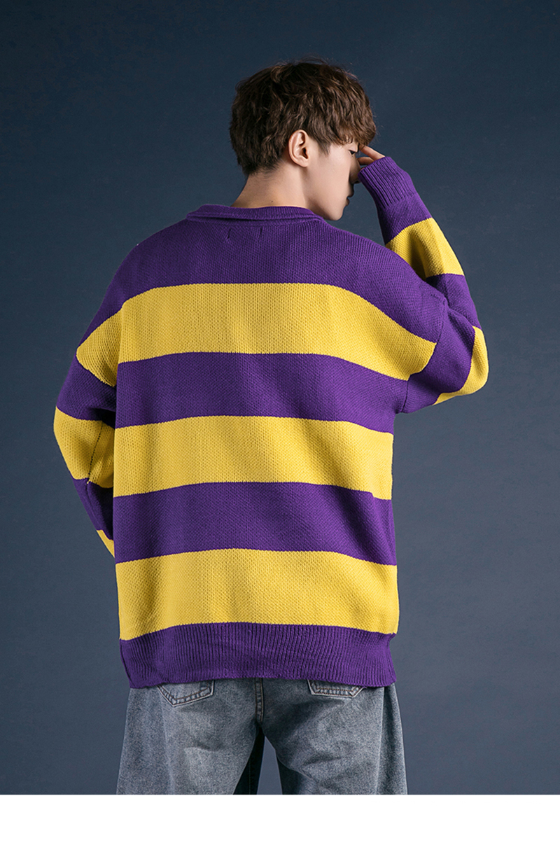 Korean Turtleneck Sweater Men Pullover Streetwear (9)