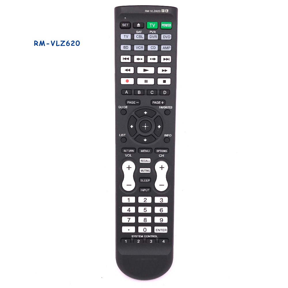 New Original/Genuine RM-VLZ620 Remote Control Substitute For SONY Commander 8-Device Universal Remoto Controller RMVLZ620 new original rm pp760 for sony av system theater video remote control rm aap002 rm pp411 at 4800dp 4850dp 5800dp ddw760 str k48