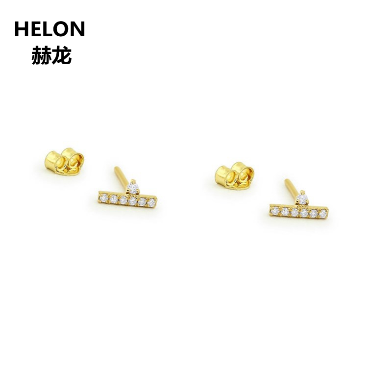 0.09ct SI/H Natural Diamonds Stud Earrings Solid 14k Yellow Gold Women Earring Anniversary Engagement Wedding Party Fine Jewelry solid 18k yellow gold natural diamonds stud earrings for women party engagement wedding anniversary fine jewelry earrings trendy