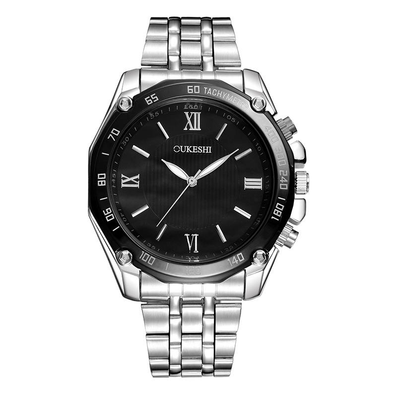 Fashion Simple Movement Men Watch Alloy Watch Male Watch Steel Watch