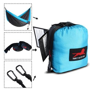 Image 2 - Camping Hammock With Hammock Tree Straps Portable Parachute Double Nylon Hammock For Backpacking Travel