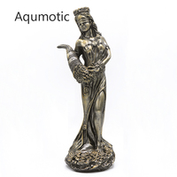 Aqumotic Wealth Goddess Plouto Money Mascot 1pc Decoration for Home Store Women Myth God Ploutos Decor about 28cm
