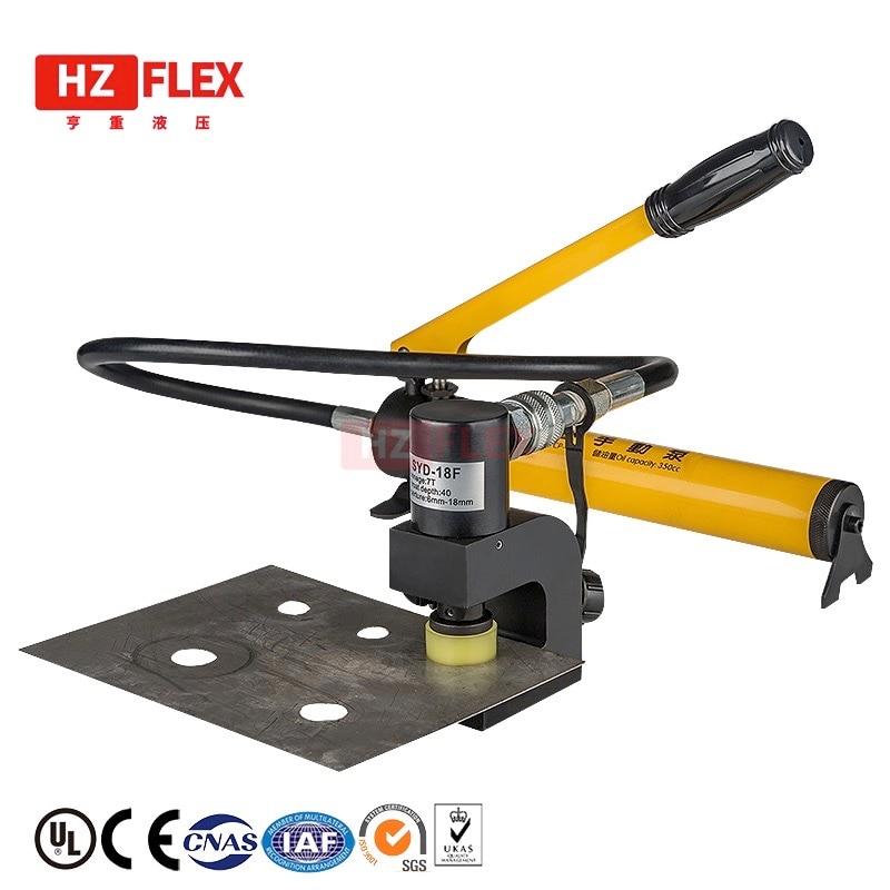 Split perforateur hydraulique cornière en acier inoxydable angle plaque d'acier poinçonnage poinçonneuse poinçonneuse électrique