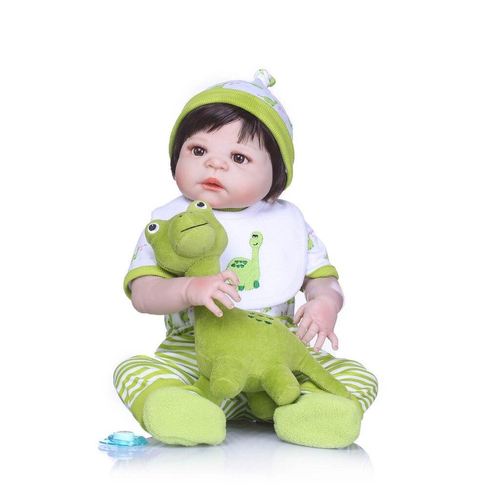 Npkcollection دمى واقعية فتاة الأميرة 23 بوصة دمى طفل تولد حيا reborns بيبي للغسل لعبة اطفال هدايا عيد-في الدمى من الألعاب والهوايات على  مجموعة 3