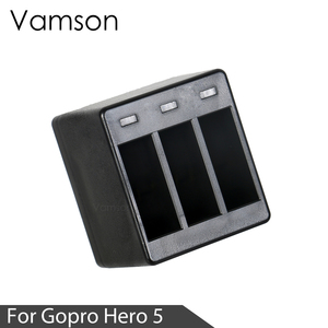 Image 3 - Vamson Three Ports Battery Charger Battery Charging Dock For GoPro 8 7 5 6 for Go Pro Hero 8 7 6 5 Black