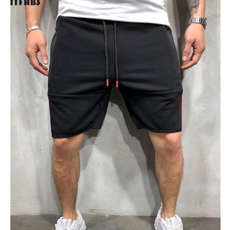 2019 Summer New Men's Fashion Straight Short Drawing String Cotton Casual Loose Plain Jogging Five Points Shorts Lot