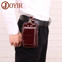 JOYIR Men Waist Packs Vinatge Hip Bag Genuine Leather Waist Bag Men Money Bum Belt Waist Bag Pouch Fanny Pack For Man Male 2019 fanny waist pack for men genuine leather belt bag pack pouch men s shoulder chest bag small bum bag mini crossbody hip waistbag