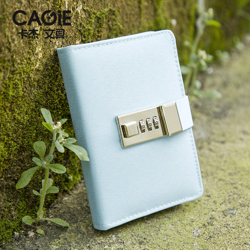Creative A7 portable writing pads with lock password simple pocket diary notebook lockable sketchbook school traveler supplies