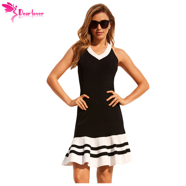 28736b62942d5 US $14.56 41% OFF Dear Lover Women Party Dresses Summer Burgundy Black  White Cute Sleeveless Ruffle Hem Crisscross Back Strap Mini Dress  LC220373-in ...