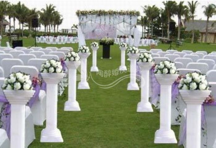 8pcs Lot Wedding Roman Pillars Wedding Road Lead Plastic