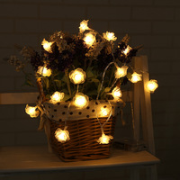 New Fashion 2.2m Holiday Lighting 20 LED Novelty Rose Flower String Lights Wedding Garden Party Valentine's Day Decoration