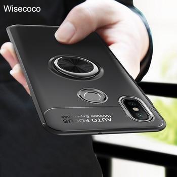 8e23baac1b2 Para Xiaomi mi 9 8 iPhone 6 6X 5X A1 A2 mi x 2 2 S Max 2 3 anillo soporte  magnético para rojo mi s2 4A 4X Nota 7 6 3 5 5A Pro