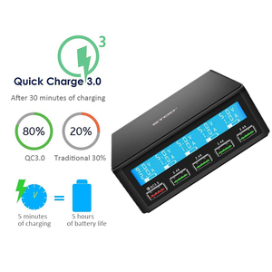 Image 4 - STOD 5 Port USB Charger 50W LED Display Quick Charge 3.0 Charging For iPhone iPad Samsung Huawei Nexus Mi QC3.0 Power Adapter