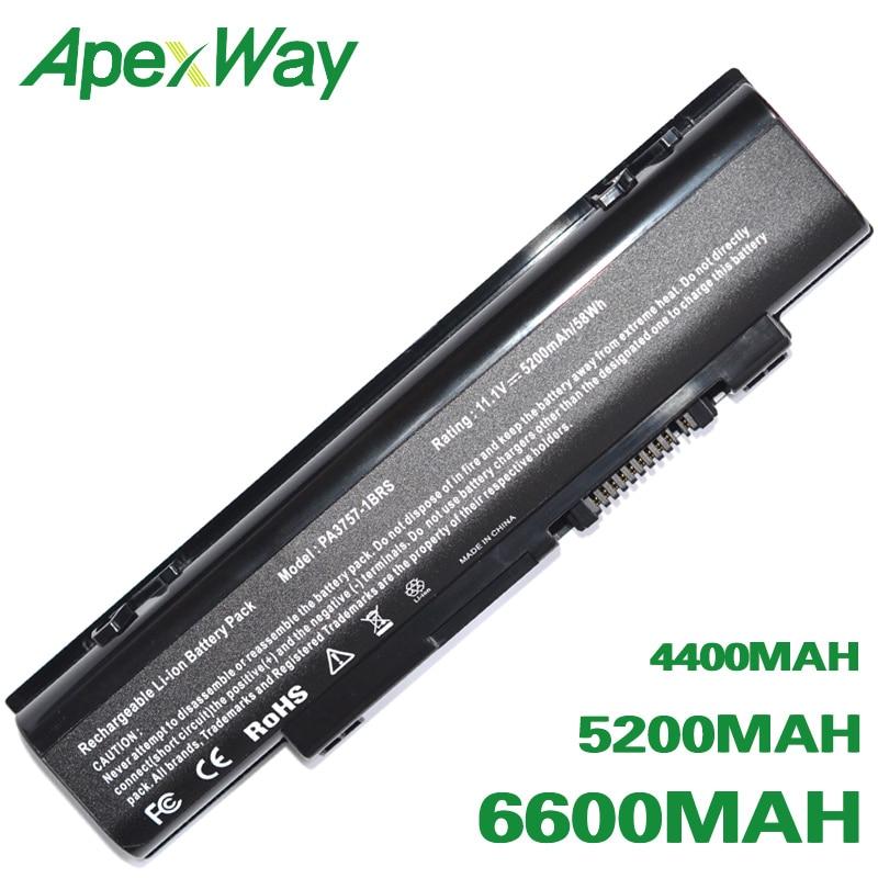 ApexWay 6 Cell Laptop Battery For Toshiba PA3757U-1BRS PABAS213 Qosmio F60 F750 F755