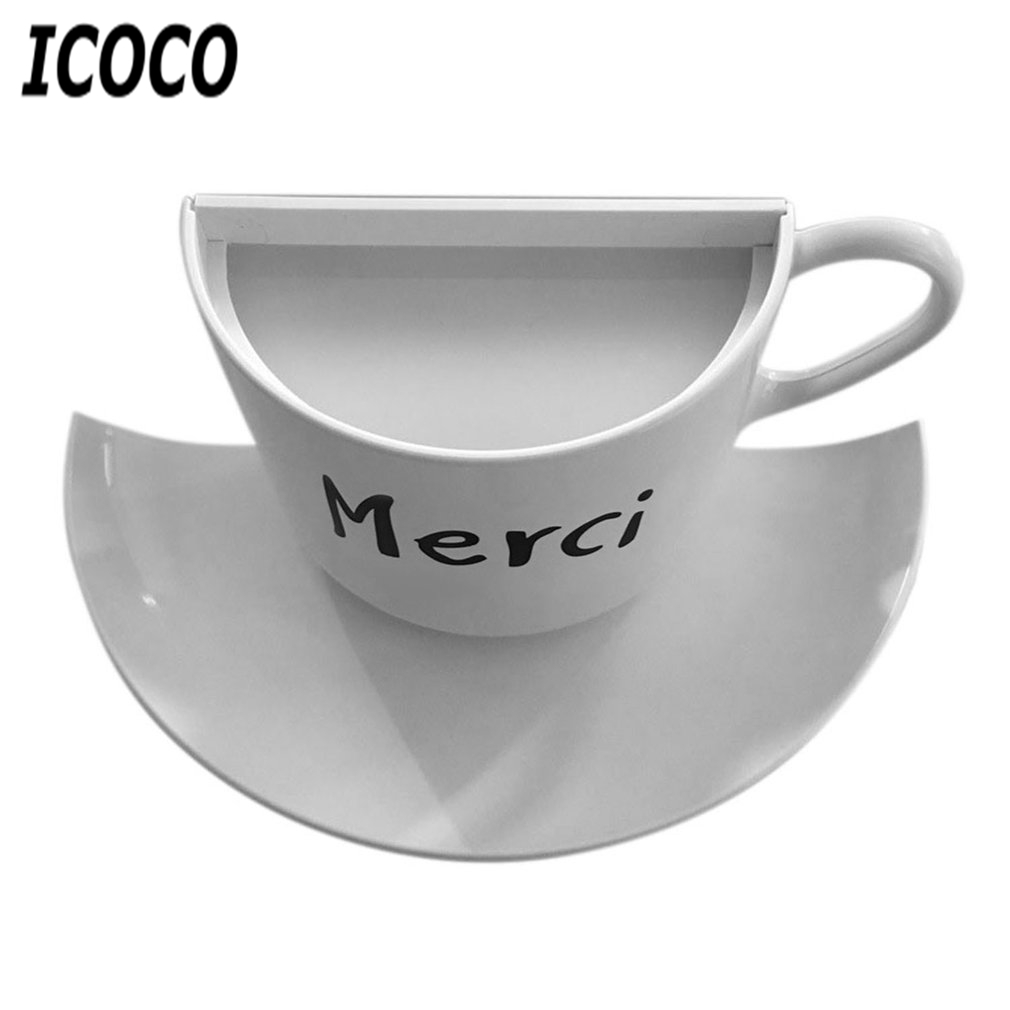 ICOCO 1PC Intelligent Night Light USB Charge Novelty Coffee Cup Design Voice Sensor LED Lamp Home