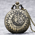 New Retro Vintage Bronze Steampunk Quartz Necklace Pendant Chain Clock Pocket Watch Men Women Gifts P208