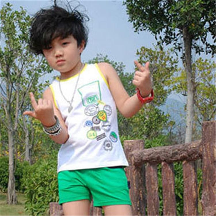 Hot Selling Kids Wear Little Boys O Neck Sleeveless Tees Unique ...