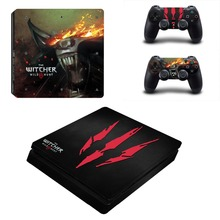 The Witcher PS4 Slim Sticker For Sony Playstation 4 Slim Console+Two Controller Skin Sticker For PS4 S Skin